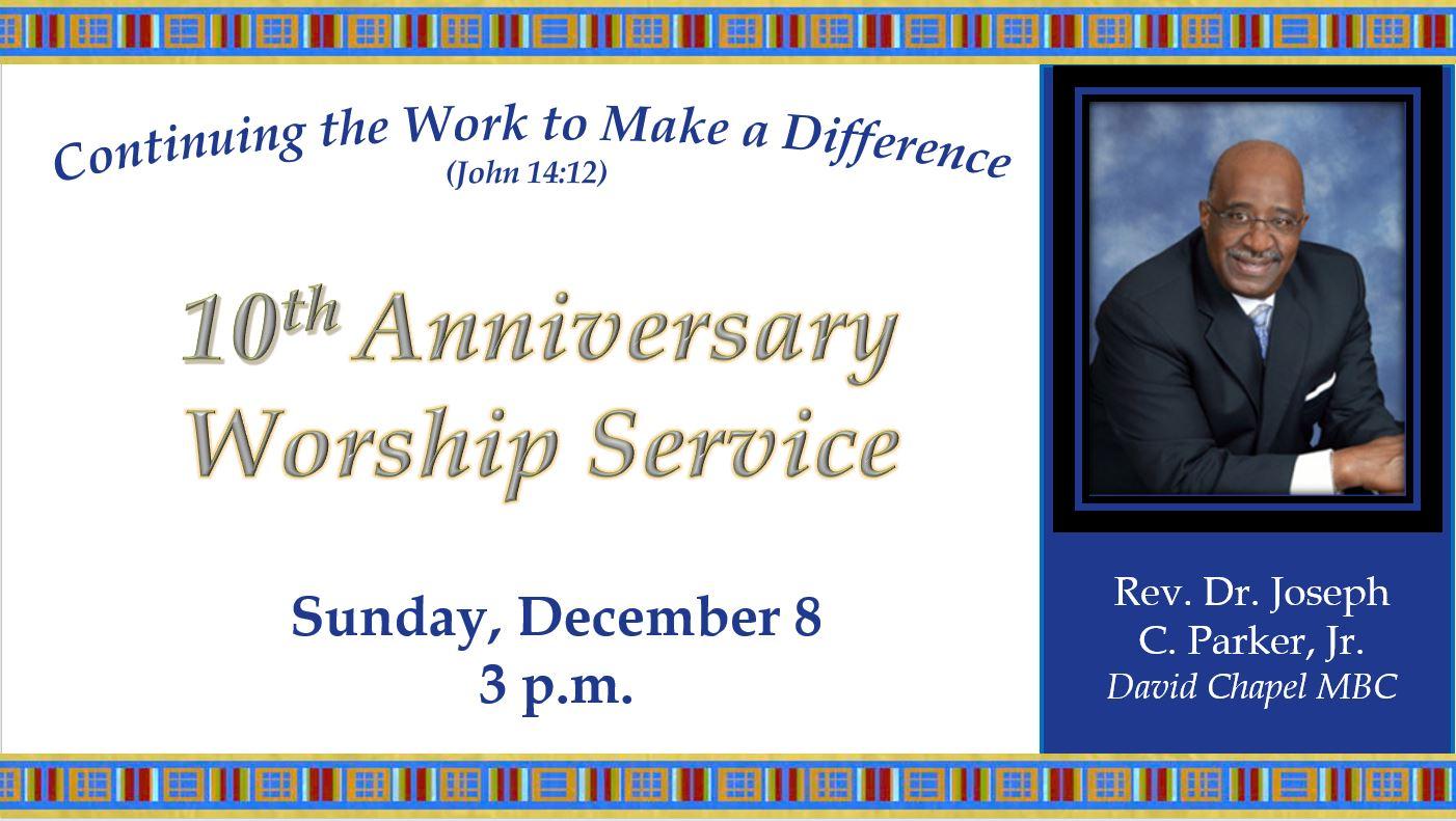 10th Church Anniversary Worship Service